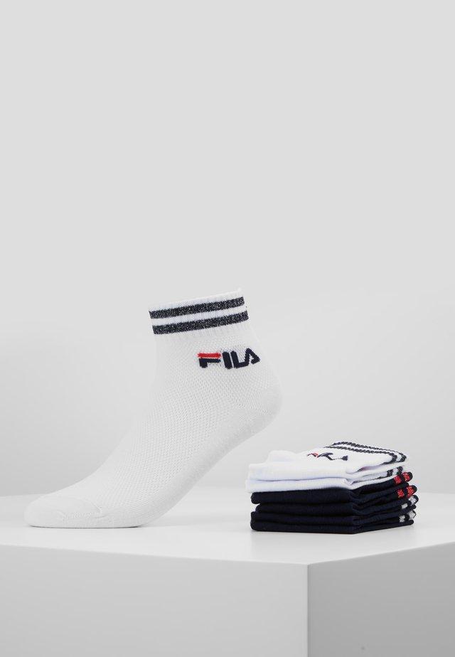 QUARTER SOCKS WITH SHINY DESIGN 3PACK - Ponožky - white/navy