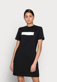 Calvin Klein Jeans - HERO LOGO DRESS - Jersey dress - black - 0