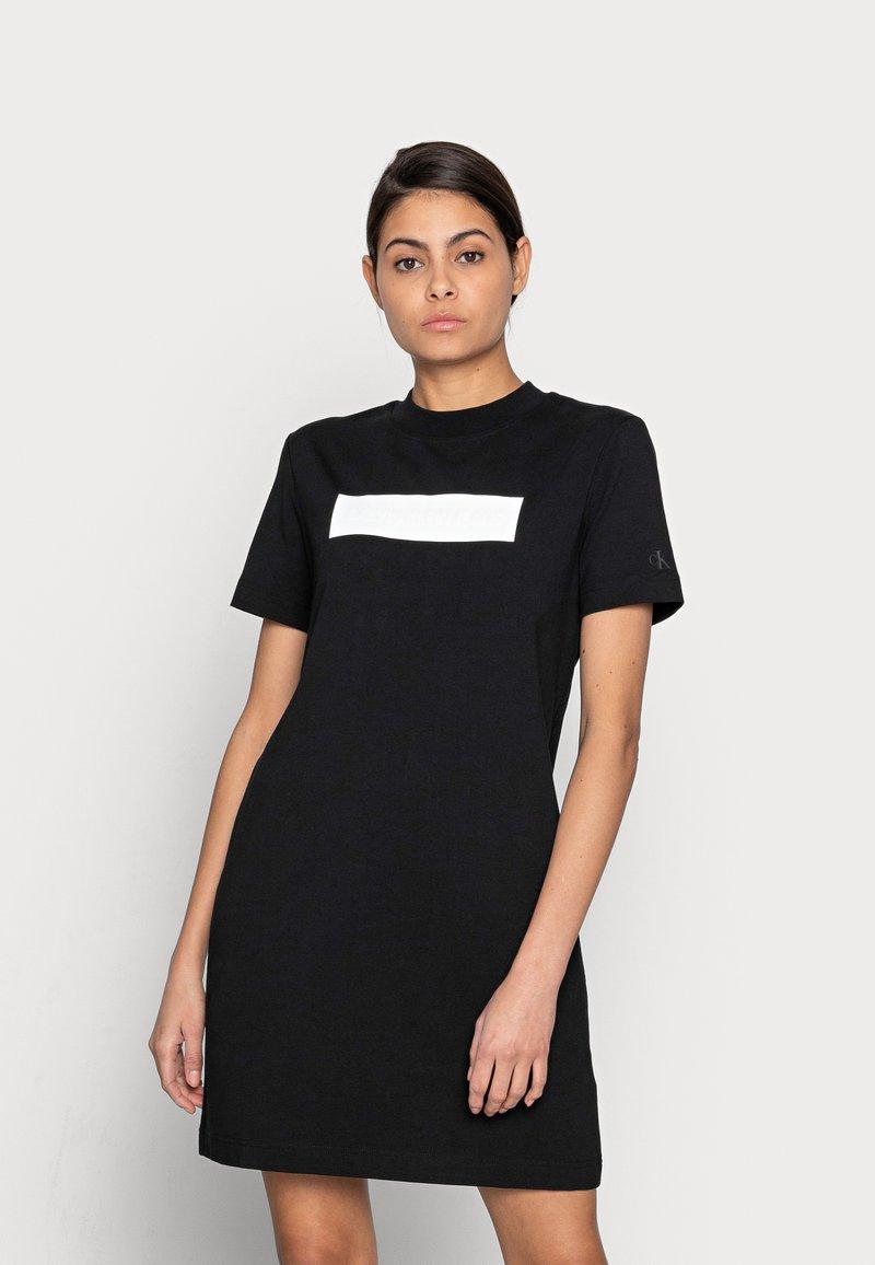Calvin Klein Jeans - HERO LOGO DRESS - Jersey dress - black