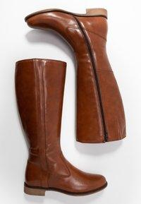 Anna Field - LEATHER BOOTS - Klassiska stövlar - cognac - 3