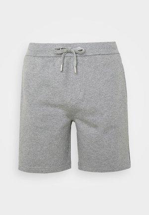 SIDE LOGO - Tracksuit bottoms - mid grey heather