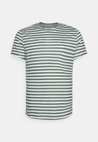 Johnny Bigg - GLOBAL STRIPE LONGLINE TEE - Print T-shirt - green - 0