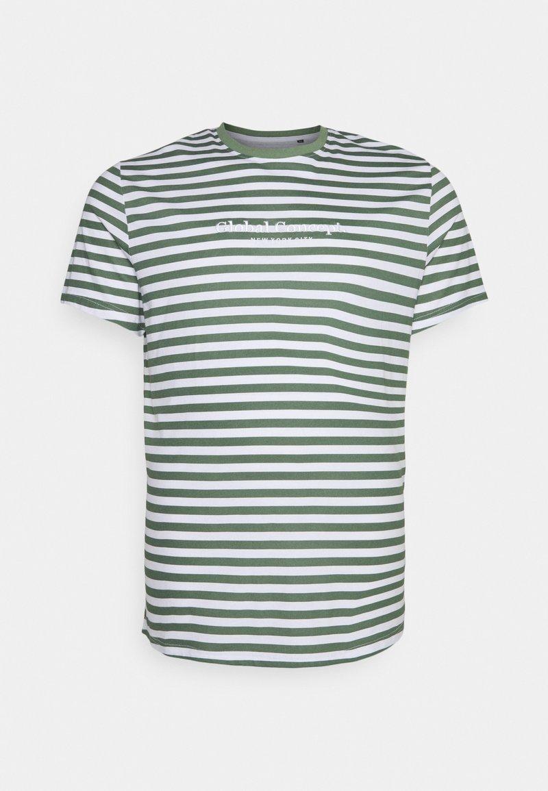 Johnny Bigg - GLOBAL STRIPE LONGLINE TEE - Print T-shirt - green