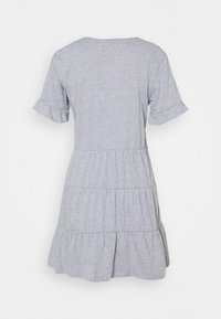 Missguided Petite - FRILL SLEEVE TIERED SMOCK DRESS - Day dress - grey - 1