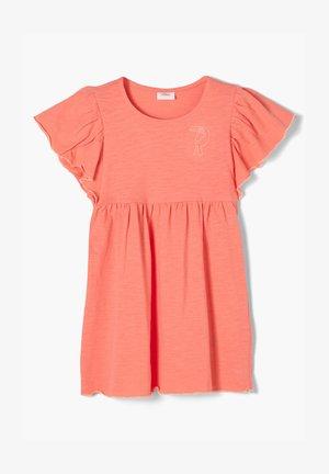 FIL FLAMMÉ - Jersey dress - light orange