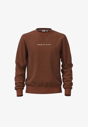 Sweatshirt - dark orange dots