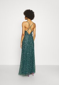 Maya Deluxe - ALL OVER EMBELLISHED CAMI DRESS - Occasion wear - deep teal - 2