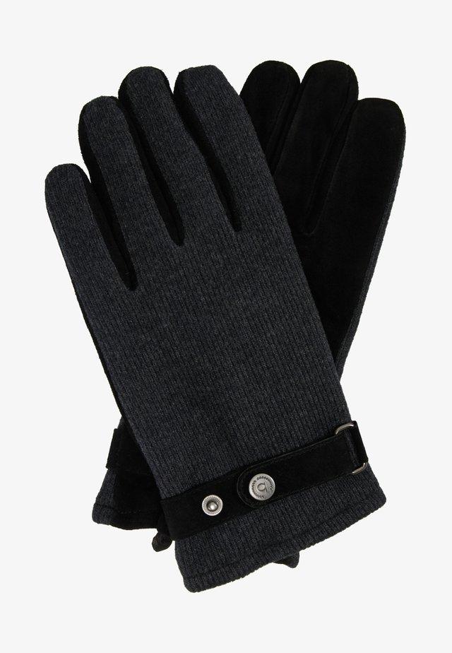 Rukavice - grau/schwarz