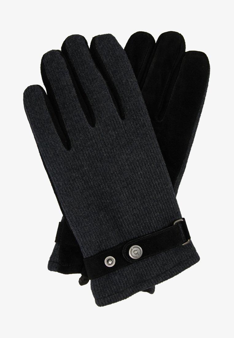 Bugatti - Gloves - grau/schwarz