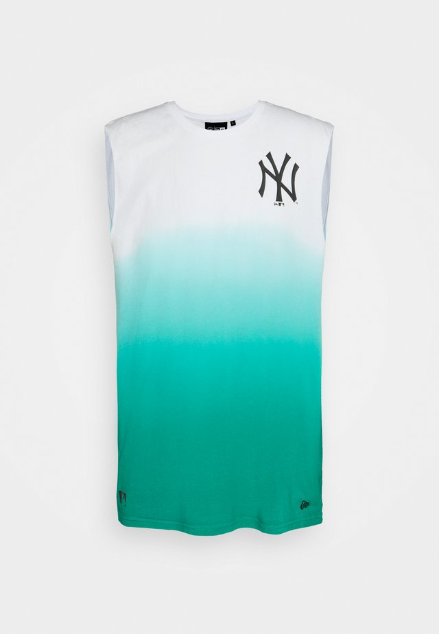 NEW YORK YANKEES MLB DIP DYE SLEEVELESS - Club wear - white/turquoise