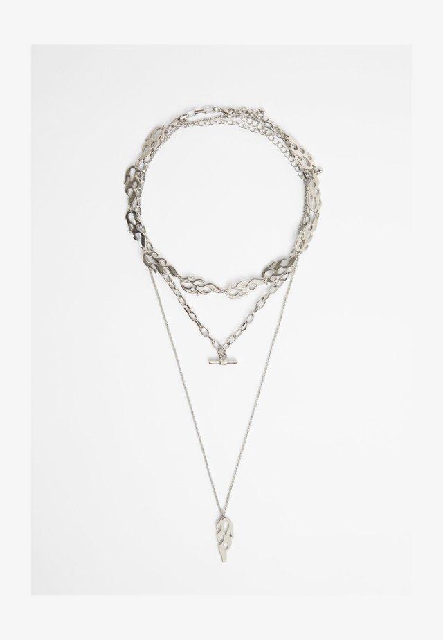 MEHRFACH FLAMMEN - Necklace - silver