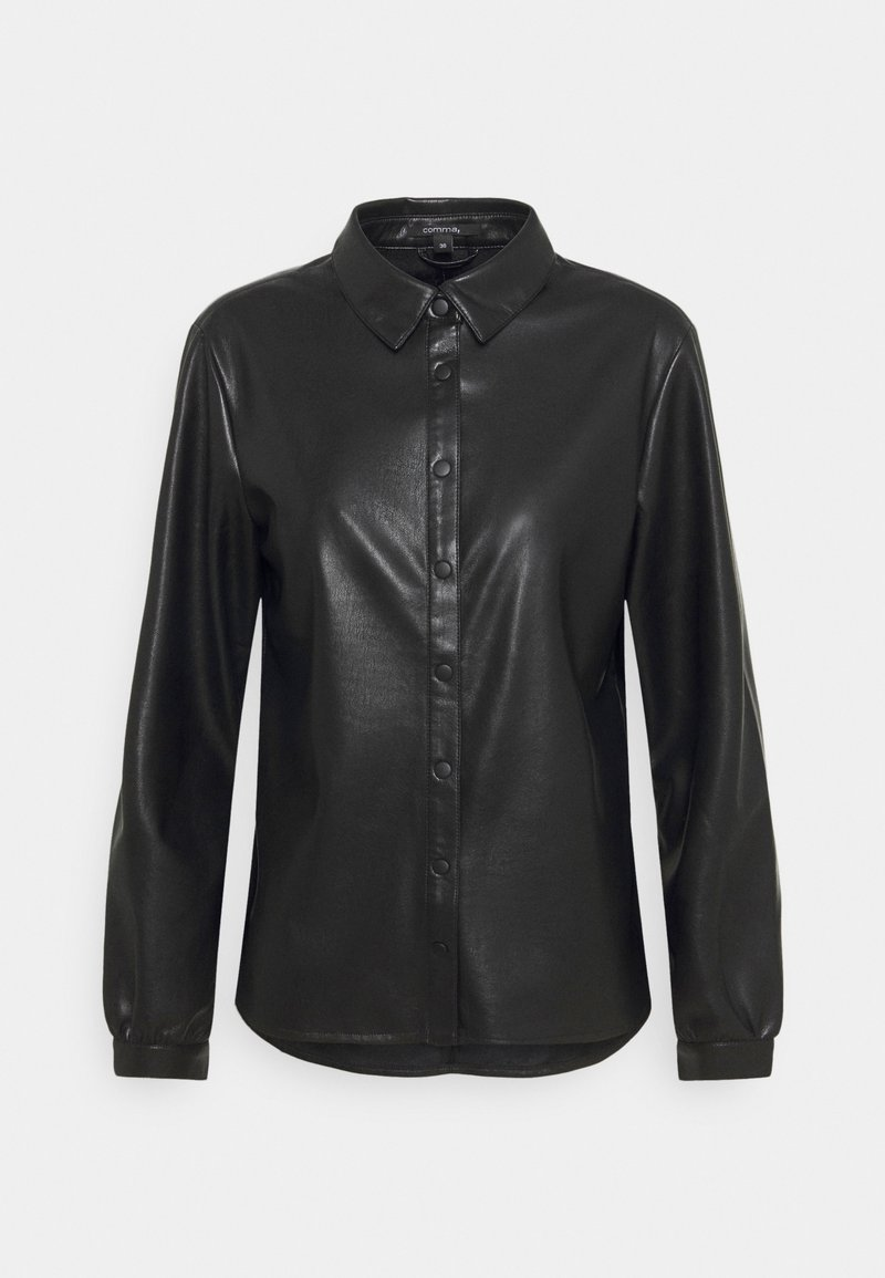 comma - Button-down blouse - black