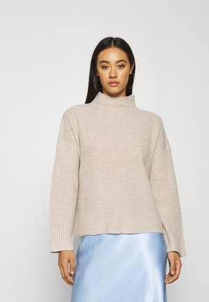 VISURIL KNIT FUNNEL NECK  - Stickad tröja - natural melange/melange