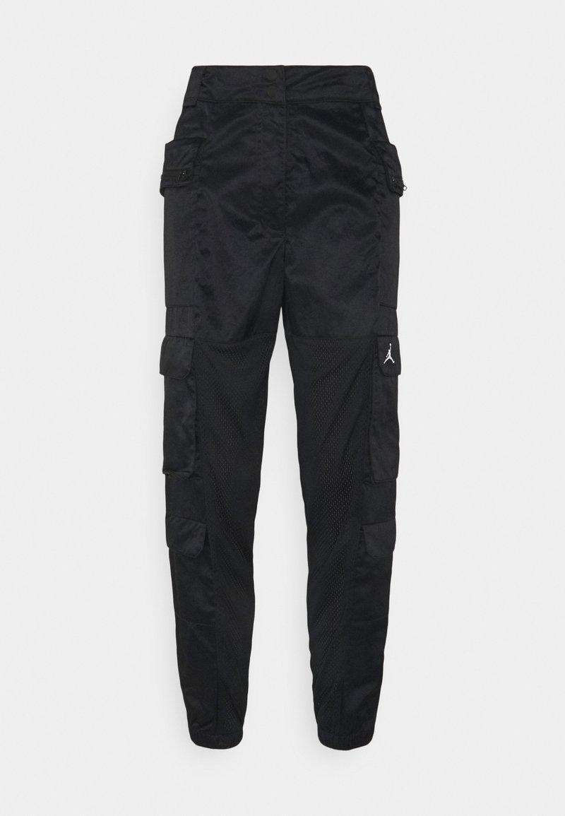 Jordan - HEATWAVE UTILITY PANT - Cargo trousers - black/white