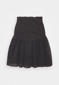 Mini skirt - white/black