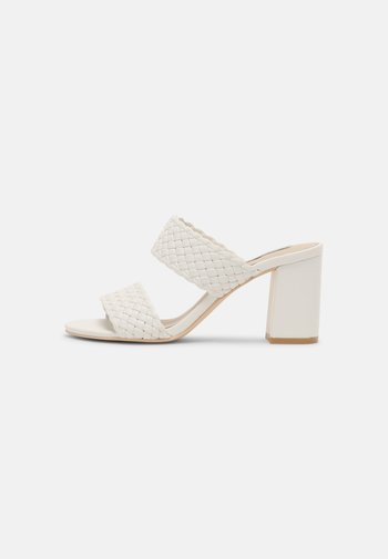 BRAIDED BLOCK - Sandaler - white