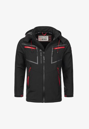 Soft shell jacket - schwarz