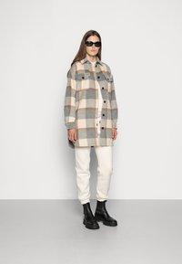 Stella Nova - EMMY - Classic coat - grey/creme/brown checks - 1