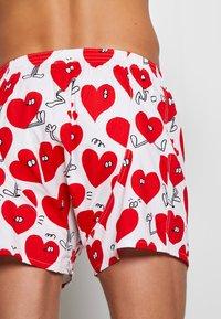 Lousy Livin Underwear - ROSE VALENTINES 2 PACK - Trenýrky - black/white - 2