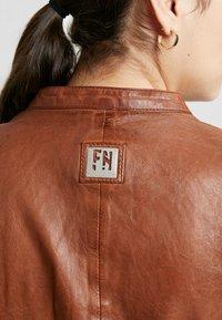 Freaky Nation - TULA - Leather jacket - cognac - 5