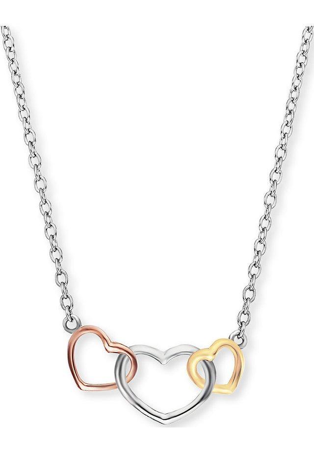 ENGELSRUFER DAMEN-KETTE KETTE WITH LOVE 3 HEARTS 925ER SILBER - Halskette - silber
