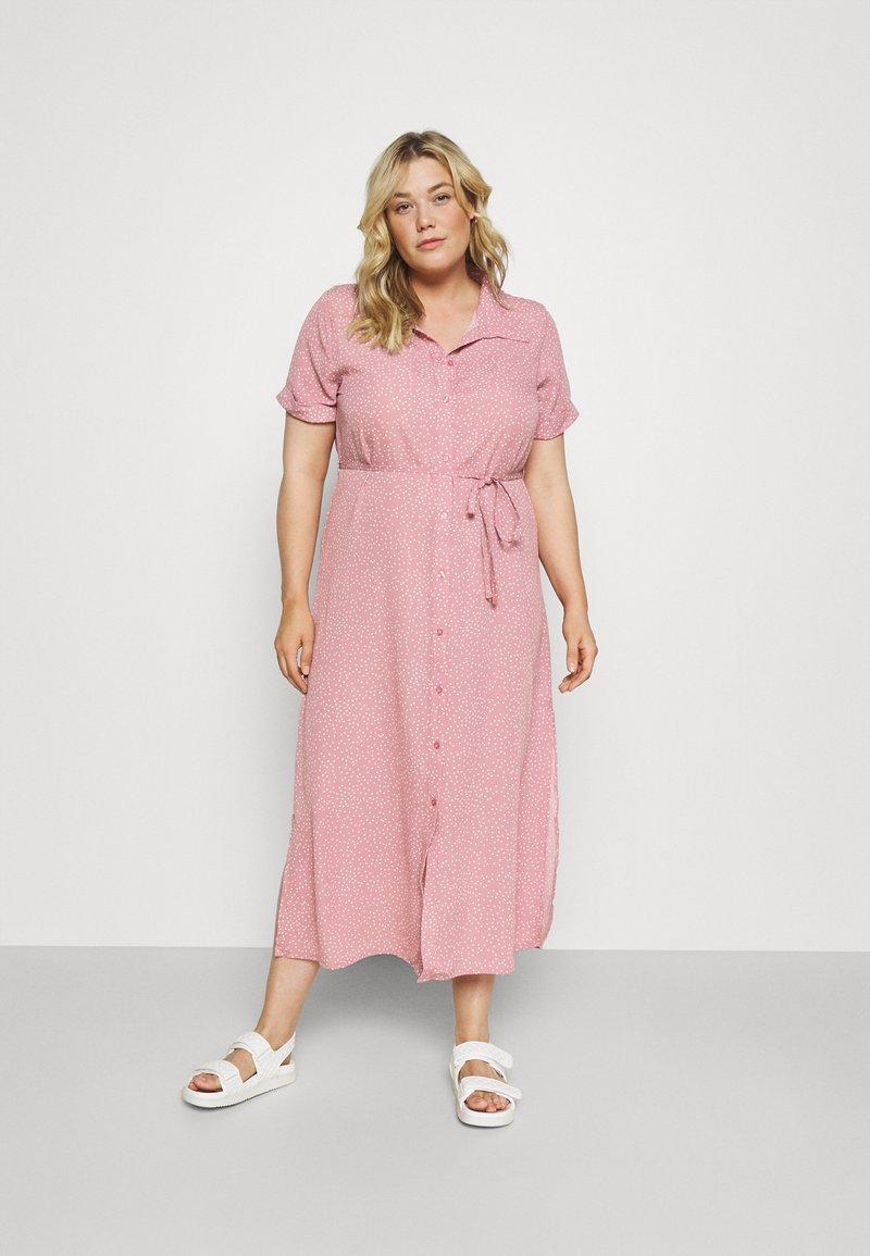 Glamorous Curve - DRESS - Shirt dress - rosa