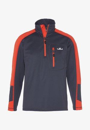 Sweat polaire - orange/navy