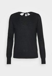 VMFELICITY LS O NECK BOW BLOUSE - Jersey de punto - black