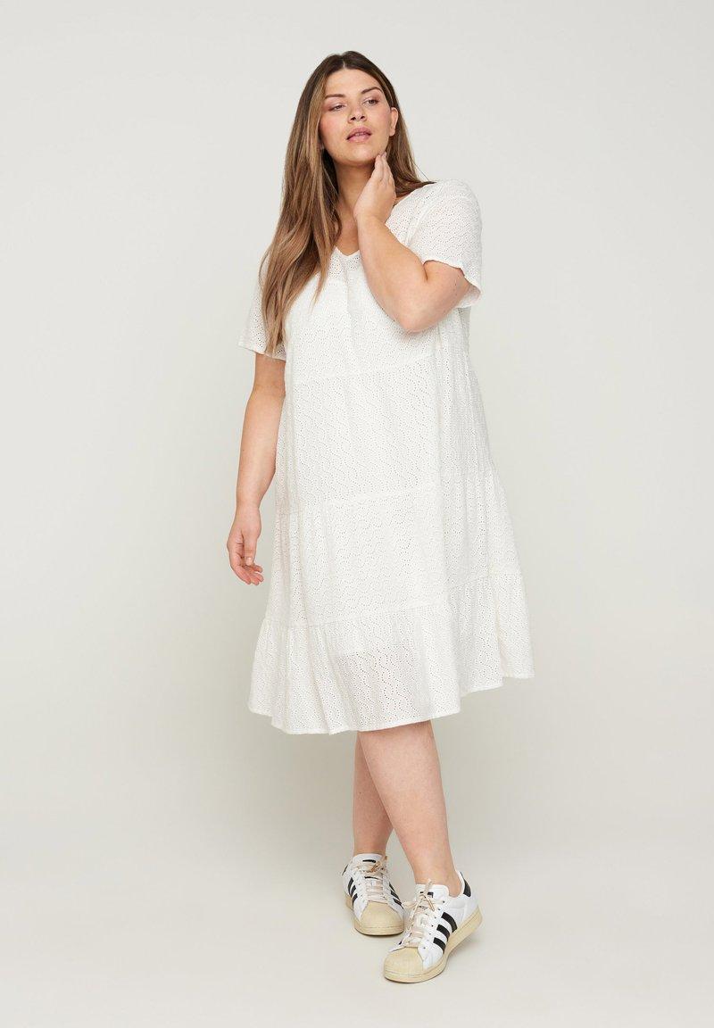 Zizzi - Day dress - bright white