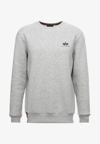 Alpha Industries - BASIC SMALL LOGO - Sweatshirt - grey heather - 4