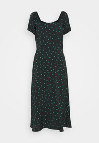 Even&Odd Tall - PUFF SLEEVE MIDI DRESS - Maxi dress - black/green - 0
