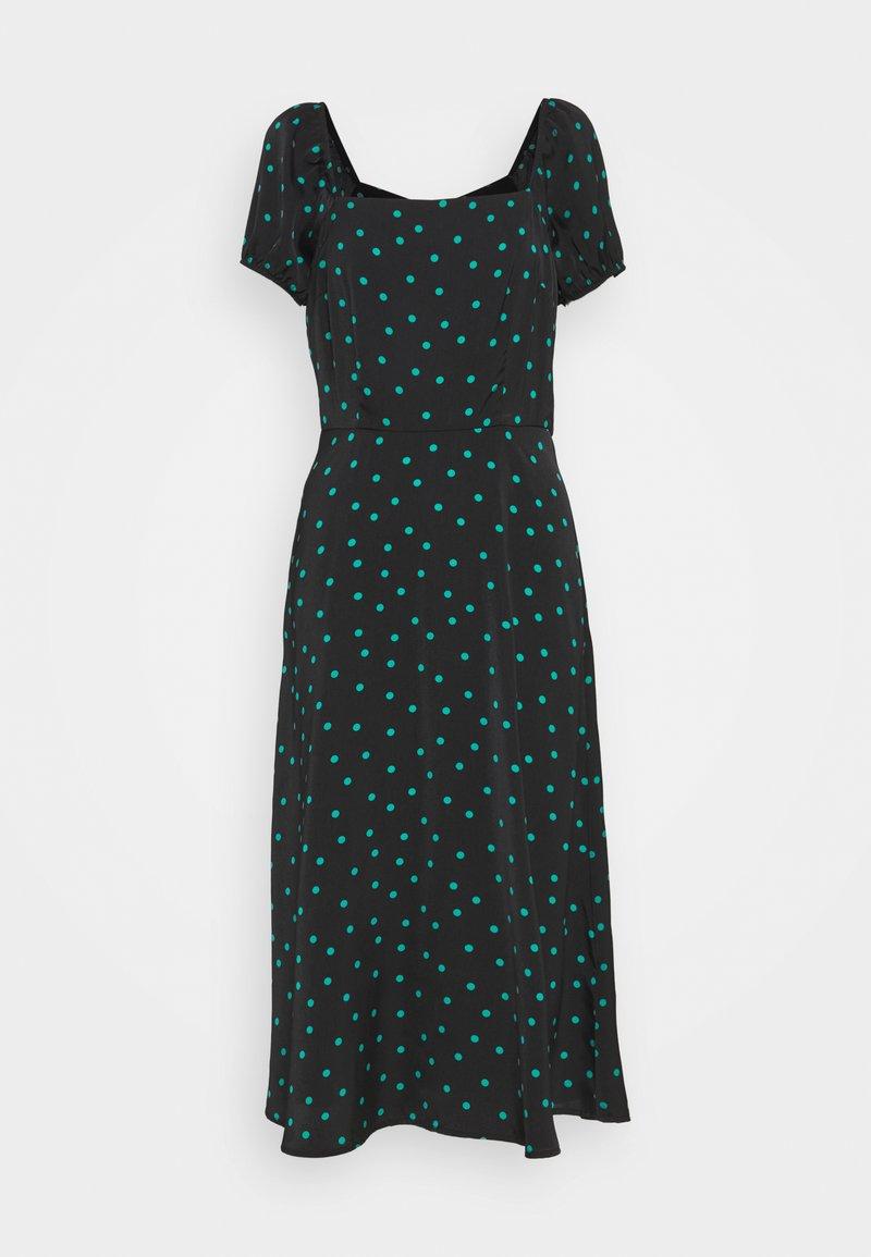 Even&Odd Tall - PUFF SLEEVE MIDI DRESS - Maxi dress - black/green