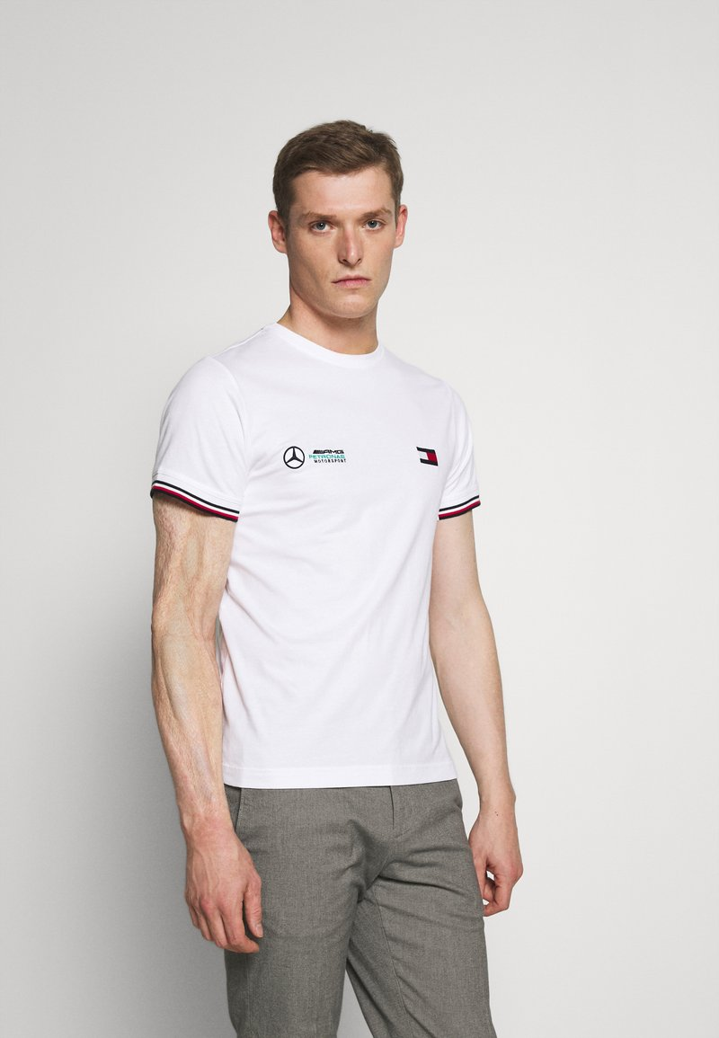 Tommy Hilfiger Tailored - TOMMY X MERCEDES-BENZ - Print T-shirt - white