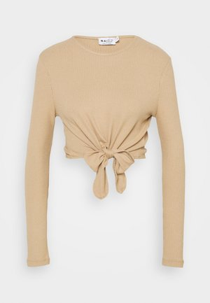 KNOT DETAIL - Long sleeved top - beige