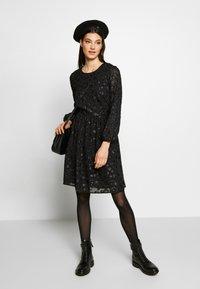 J.CREW - LANA LEOPARD DRESS - Koktejlové šaty/ šaty na párty - black - 1
