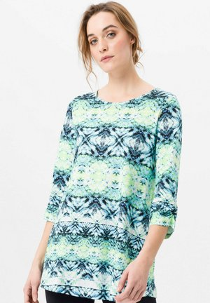 Long sleeved top - blau/limone/multicolor