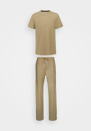 TEE AND JOGGER - Pyjama set - stone
