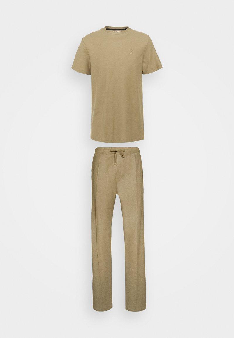 Burton Menswear London - TEE AND JOGGER - Pyjama - stone