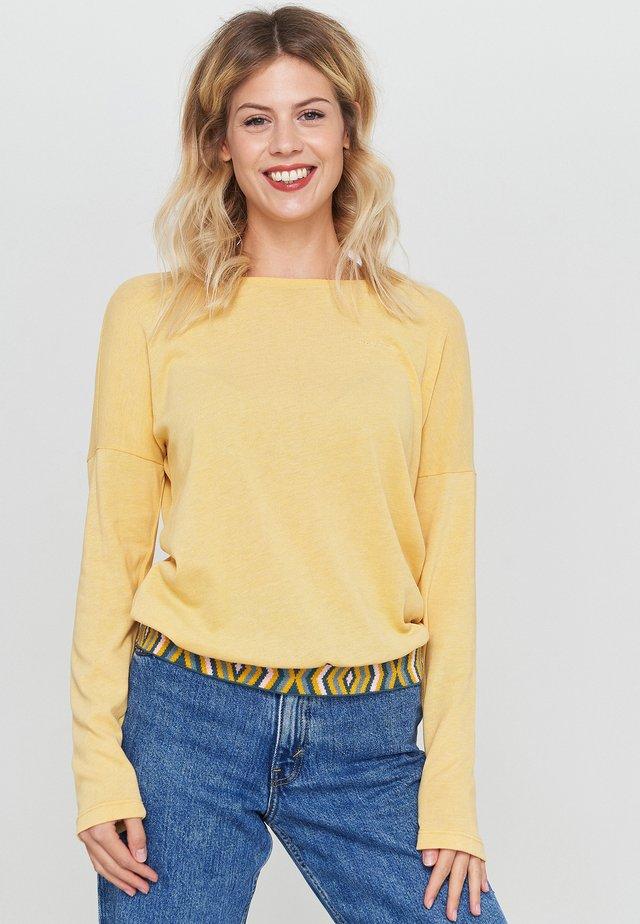 AUBREY - Long sleeved top - yellow mel