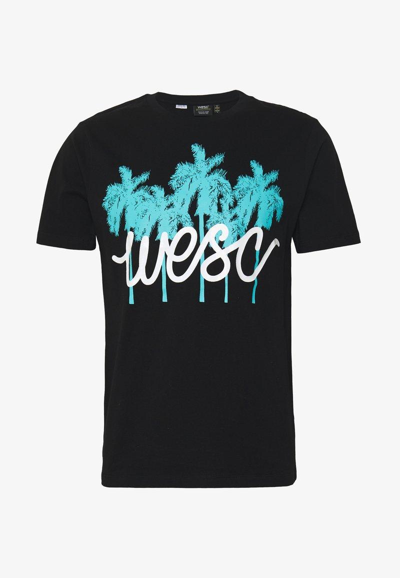 WeSC - MAX PALMS - T-shirt imprimé - black