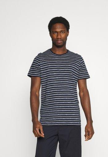STRIPED - Print T-shirt - blue/offwhite