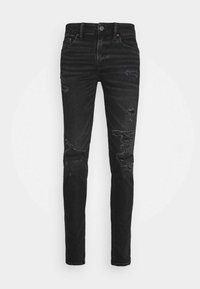 BLACK MENDED  - Džíny Slim Fit - black slash