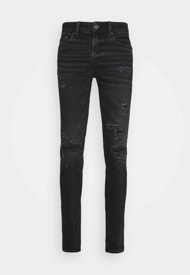 BLACK MENDED  - Slim fit jeans - black slash
