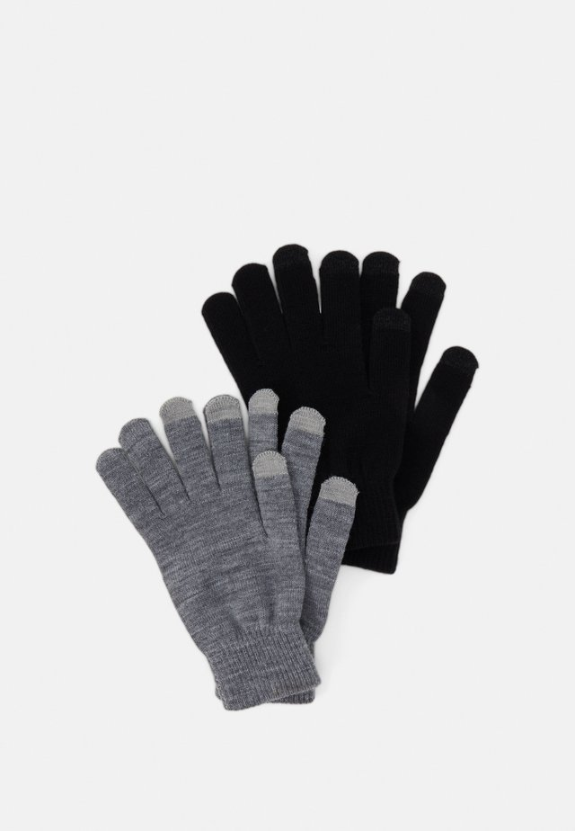 2 PACK TOUCH SCREEN - Fingerhandschuh - grey/black