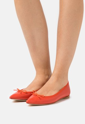 Ballet pumps - hibicus red