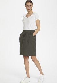 Kaffe - NAYA  - Pencil skirt - grape leaf - 1