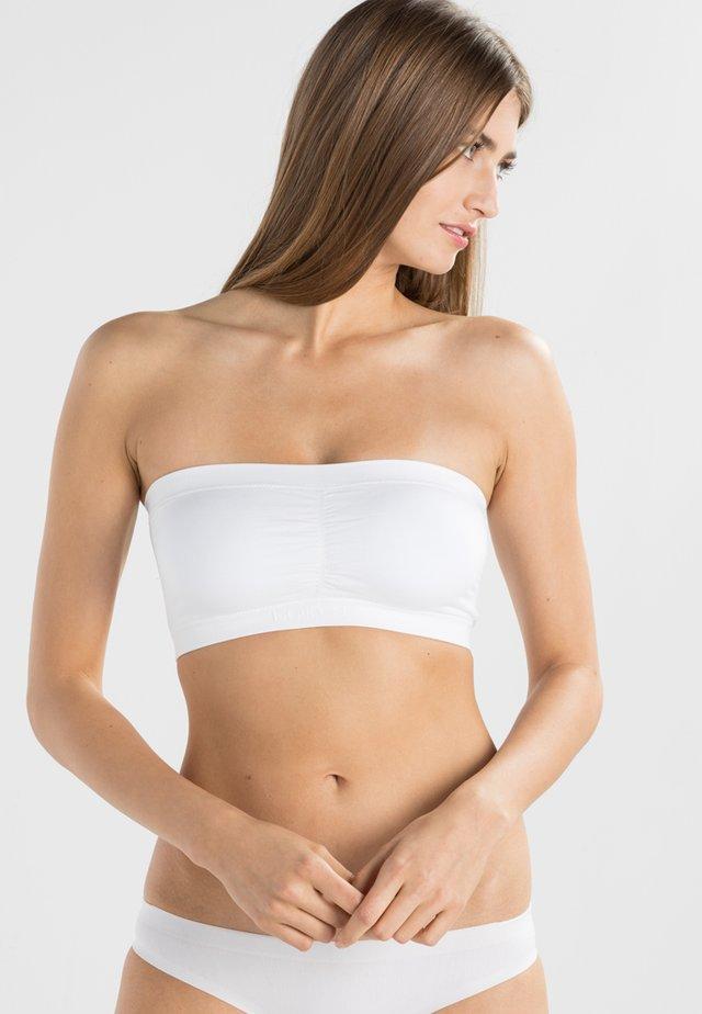 COMFORT BANDEAU - Olkaimettomat/muut rintaliivit - white