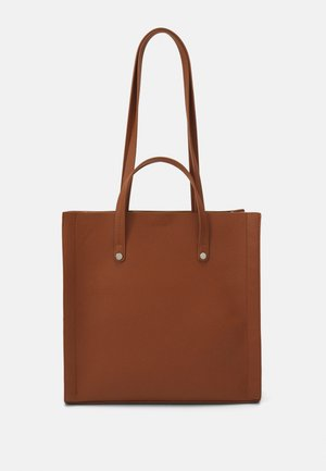 Shopper - cognac/beige