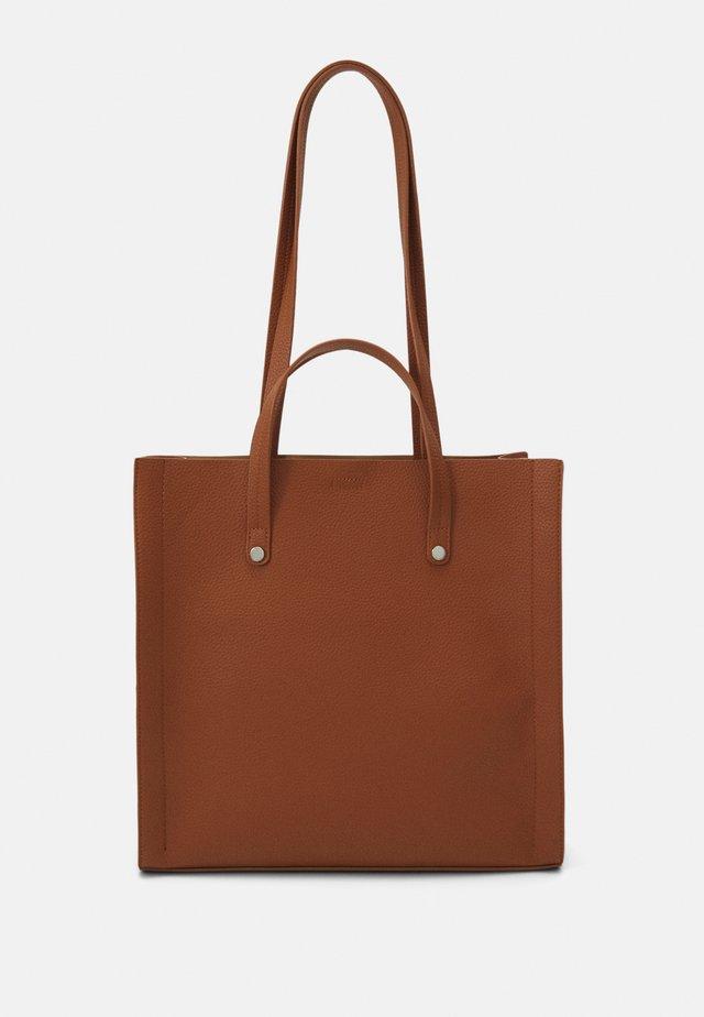 Shopping Bag - cognac/beige