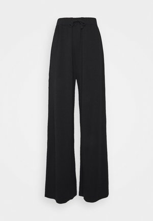 WIDE LEG TROUSERS - Broek - black